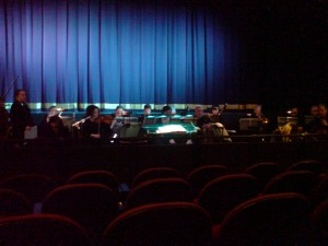 An Orchestra tuning up is a joy to behold.