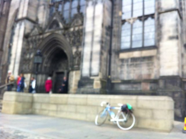 Trigger by the steps of St Giles Cathedral, taken by a very blurry iPhone camera. Should have warned me of what was to come a couple of days later....