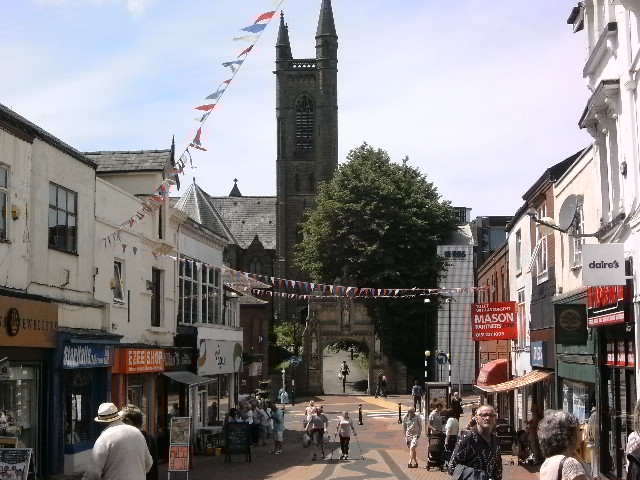 So here's the picturesque town of Chorley, and the first of two churches on the journey. We'll return here in the future.